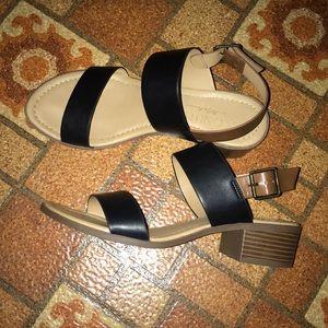 Black Brown Strap Sandals